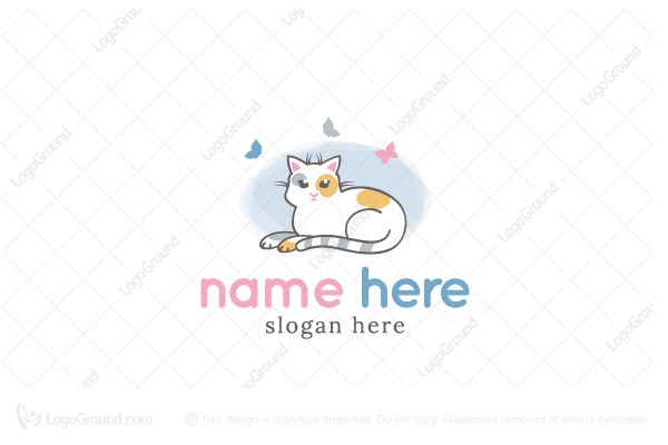 Logo for sale: Little Kitten Logo
