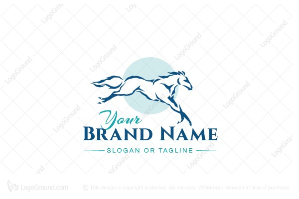 Logo for sale: Horse Silhouette Logo