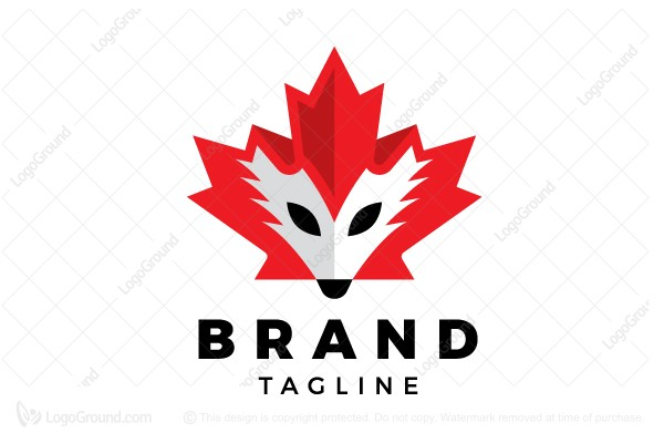 Logo for sale: Canadian Fox King Logo