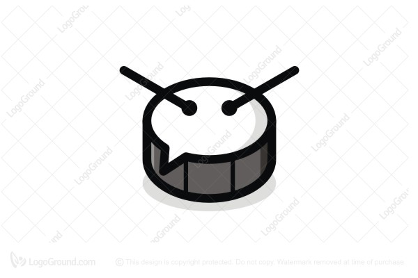 Logo for sale: Drum Chat Logo