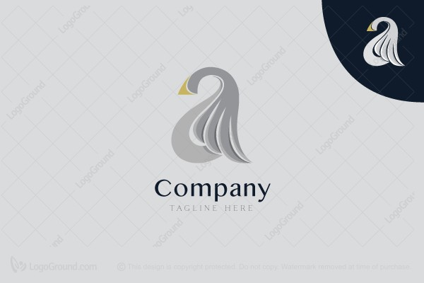 Logo for sale: Goose Wing Letter A Logo