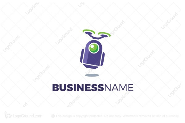 Logo for sale: Robot Takes Off Logo