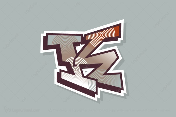 Logo for sale: Graffiti Letter K Logo