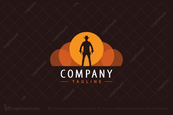 Logo for sale: Western Cowboy Gunfight Logo