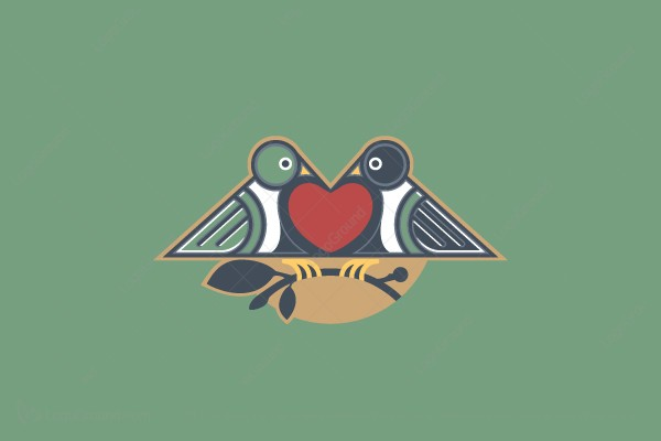 eternal love birds logo logoground