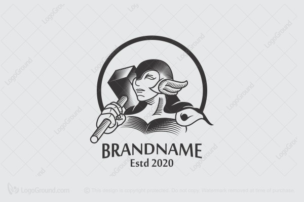 Logo for sale: Thor Hammer Logo