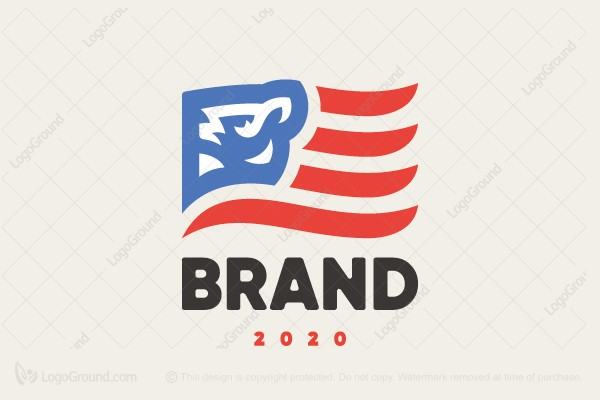 Logo for sale: Lion American Us Flag Logo