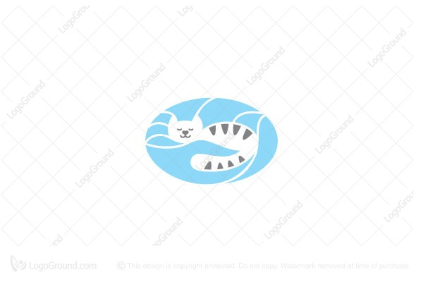 Logo for sale: Sleeping Cat Logo