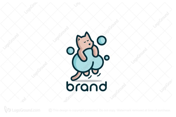 Logo for sale: Sleepy Cat Logo