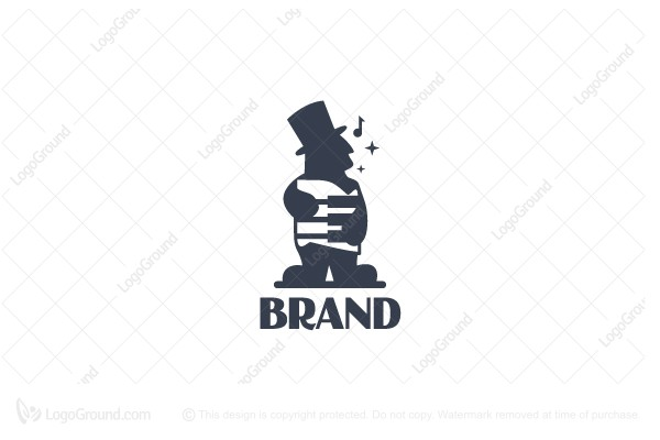 Logo for sale: Accordion Man Logo