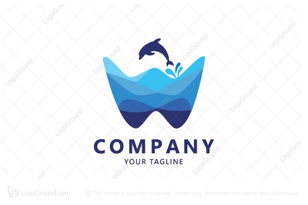 Logo for sale: W  letter For Water Logo