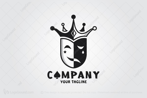 Logo for sale: Crown Clown Logo