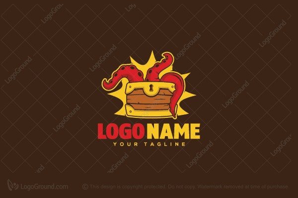 Logo for sale: Treasure Octopus Logo
