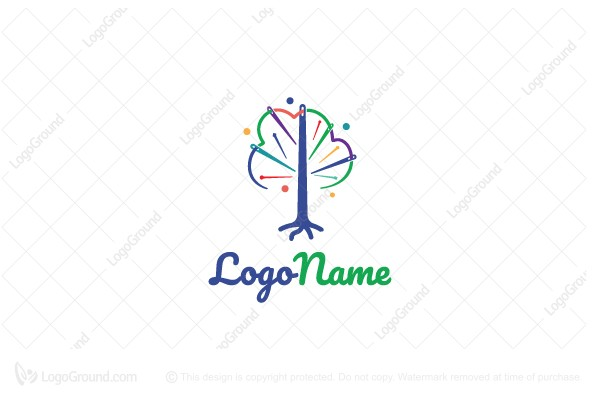 Logo for sale: Sew Tree Logo