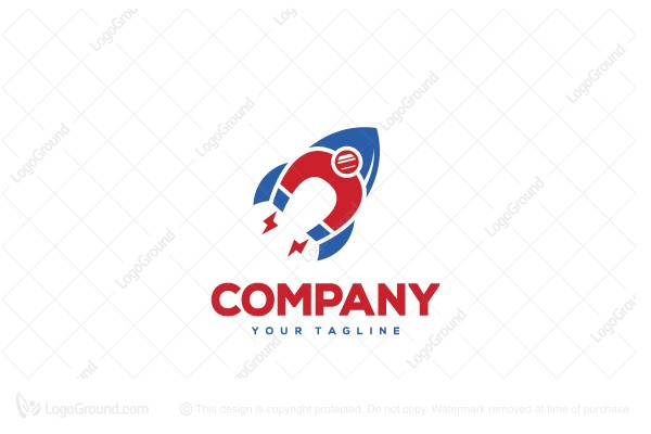 Logo for sale: Magnetic Rocket Logo