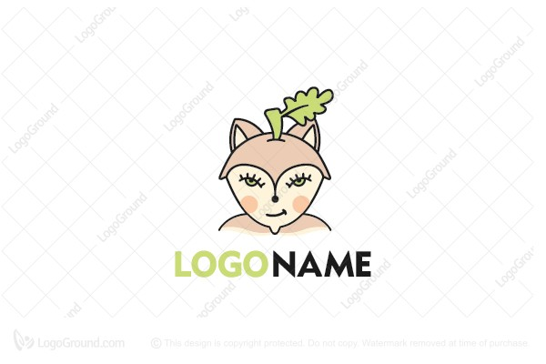 Logo for sale: Acorn Fox Logo