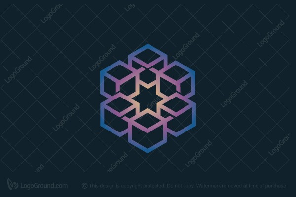 Logo for sale: Blockchain Star Logo
