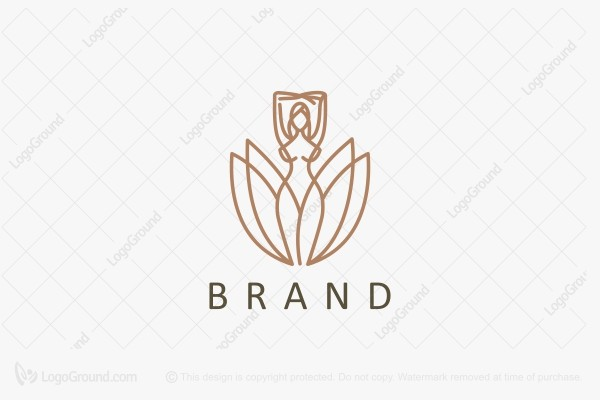 Logo for sale: Blooming Woman Logo