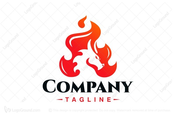 Logo for sale: Dragon Flame Logo