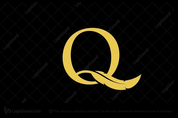 Logo for sale: Letter Q With Quill Logo Design