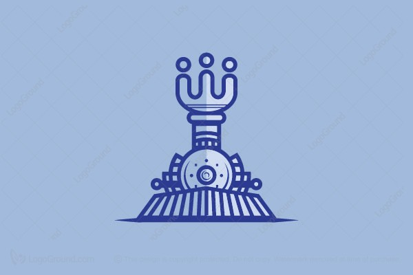 Logo for sale: The Train And King Logo