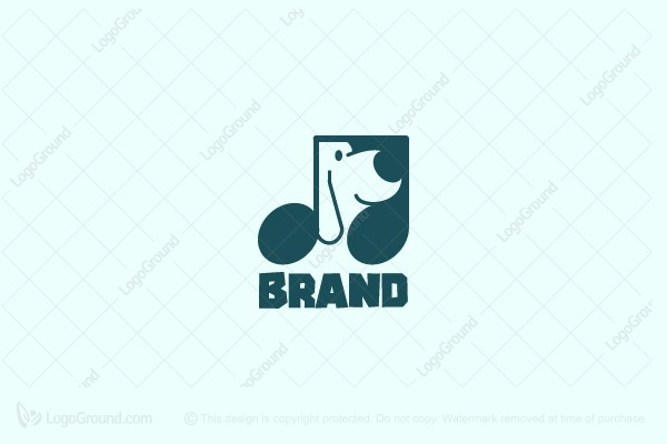 Logo for sale: Dog Melody Logo