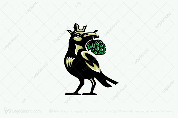 Logo for sale: Brewing Crow Logo