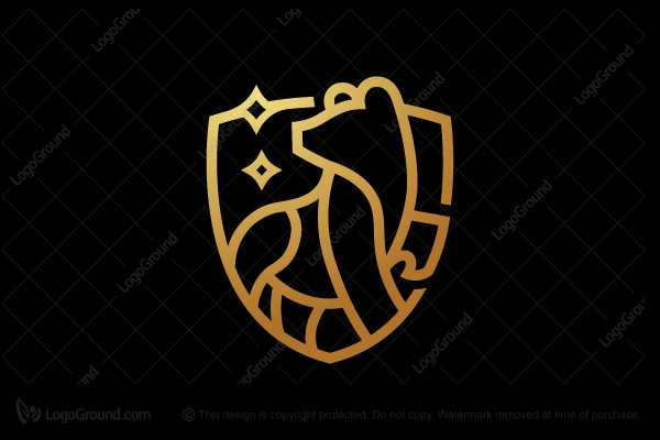 Logo for sale: Bear Emblem Logo