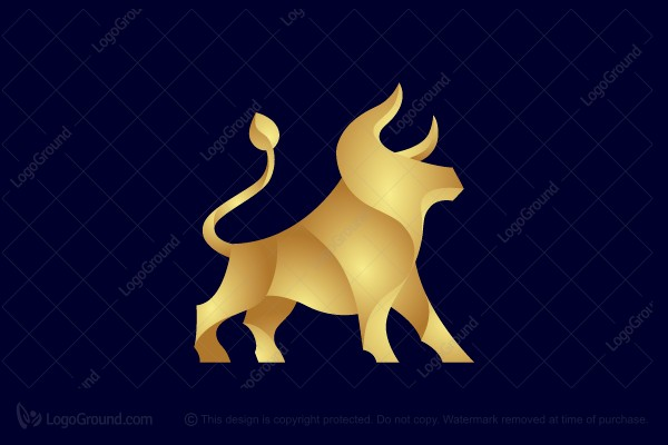 Logo for sale: Golden Bull Logo