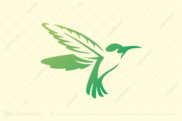 Logo for sale: Green Humminbird Logo