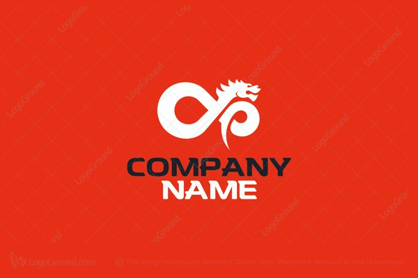 Logo for sale: Chinese Dragon Infinity Logo