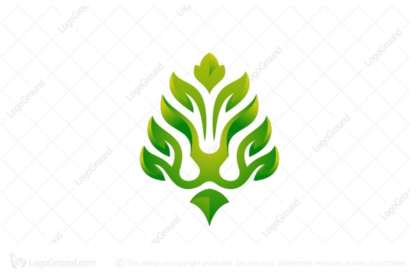 Logo for sale: Lion Leaves Logo