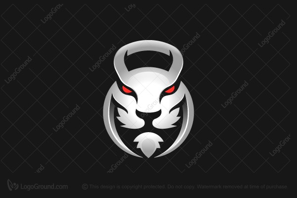 Logo for sale: Kettlebells Lion Gym Logo