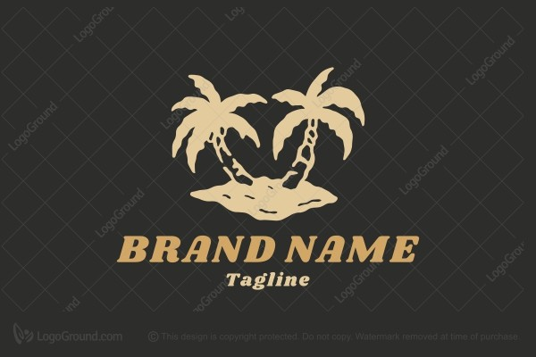 Logo for sale: Palm Tree Logo