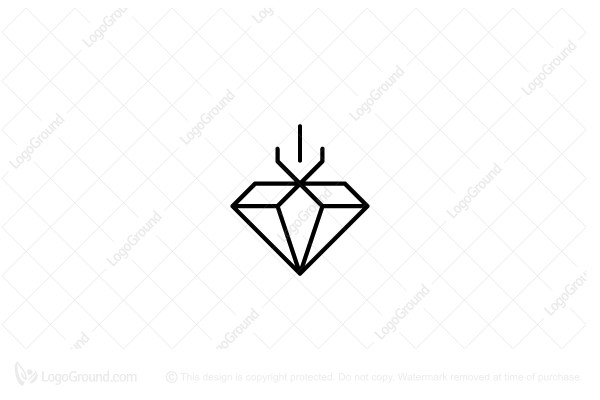 Logo for sale: Trident Diamond Logo