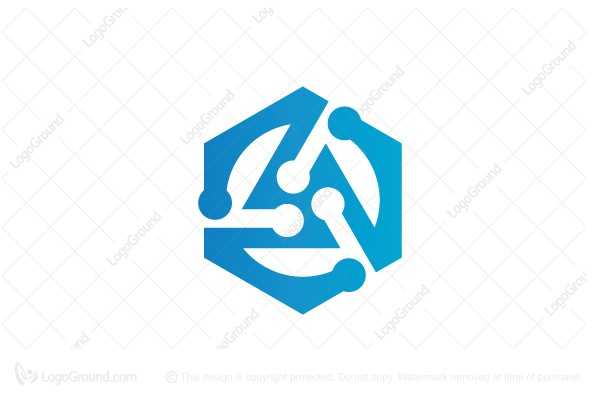 Logo for sale: Hexagon Tech Logo