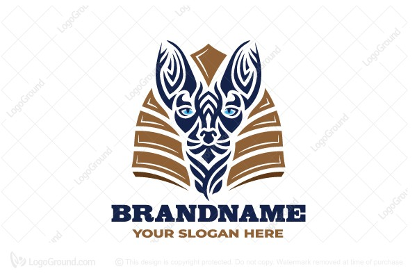 Logo for sale: Egyptian Cat Logo