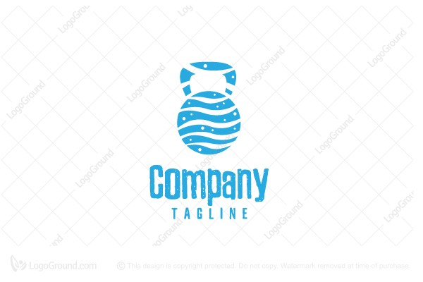 Logo for sale: Beach Fitness Wave Logo