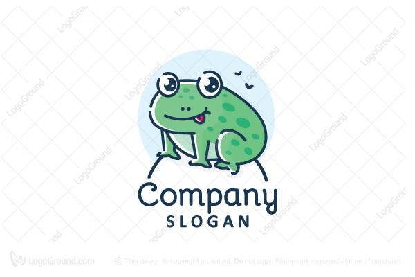 Cute Frog Logo