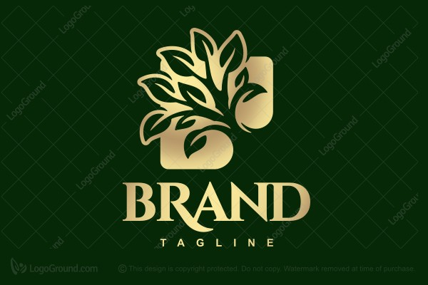 Logo for sale: Gilt Square Tree Logo