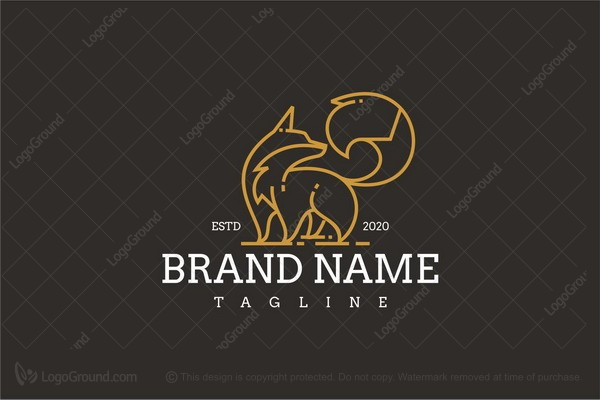 Logo for sale: Fox Line Art Vintage Luxury Logo