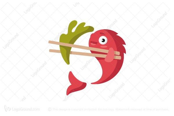 Logo for sale: Korean Fish Logo