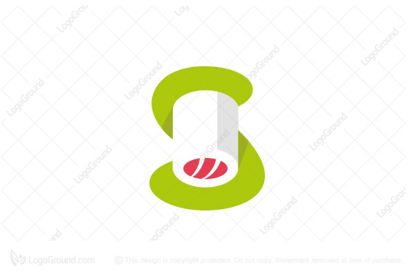 Logo for sale: S And Sushi Logo