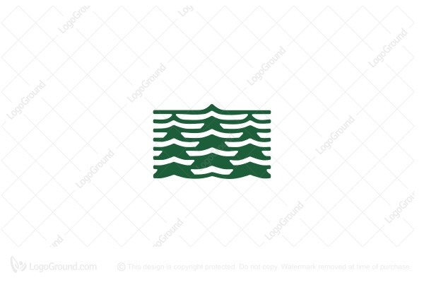 Logo for sale: Line Pine Trees Logo