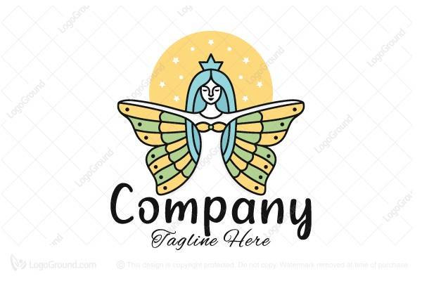 Logo for sale: Angel Woman Logo
