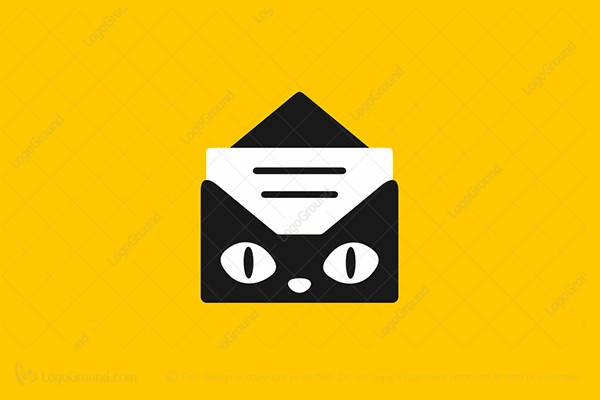Logo for sale: Cat Mail Logo