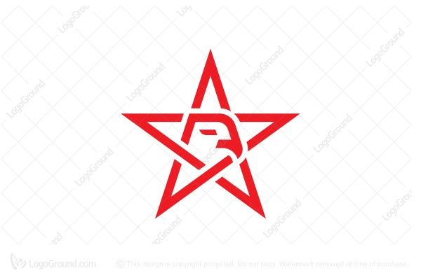 Logo for sale: Monoline Eagle Star Logo