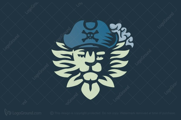 Logo for sale: Lion Pirate Logo