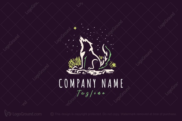 Logo for sale: Lonely Wolf Logo