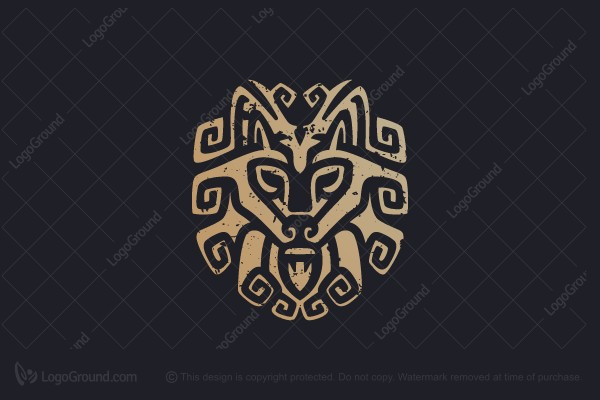 Logo for sale: Tribal Wolf Logo